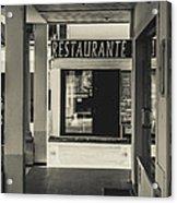 Albufeira Street Series - Restaurante Acrylic Print