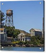 Alcatraz Dock And Water Tower Acrylic Print