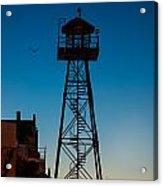Alcatraz Guard Tower Acrylic Print by Steve Gadomski