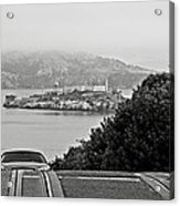 Alcatraz Island From Hyde Street In San Francisco Acrylic Print