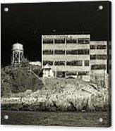 Alcatraz The Rock Sepia 2 Acrylic Print