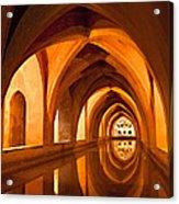 Alcazar Cave Galleries Seville Acrylic Print by Viacheslav Savitskiy