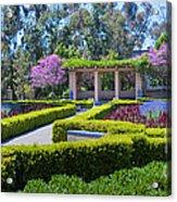 Alcazar Garden Vibrant Color Display Balboa Park Acrylic Print