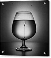 Alcoholism. The Drowning Acrylic Print