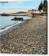 Alert Bay Beach Scape Acrylic Print