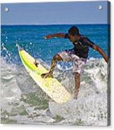 Alex 16 Year Old Pro Surfer Acrylic Print