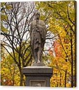 Alexander Hamilton Statue Acrylic Print by Joann Vitali