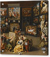 Alexander The Great Visiting The Studio Of Apelles Acrylic Print