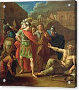 Alexander The Great Visits Diogenes At Corinth, 1787 Oil On Canvas Acrylic Print