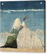 Alexander Von Humboldts Chimborazo Map Acrylic Print