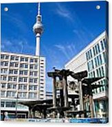 Alexanderplatz View On Television Tower Berlin Germany Acrylic Print