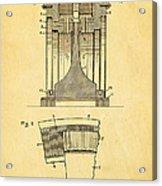 Alexanderson Altenator Patent Art 1911  Acrylic Print