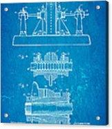 Alexanderson Altenator Patent Art 2 1911 Blueprint Acrylic Print