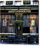 Alex's London Pub Acrylic Print