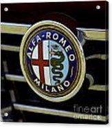 Alfa Romeo Badge Acrylic Print