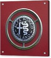 1961 Alfa Romeo Giulietta Sprint Veloce Series II Emblem -1045c Acrylic Print