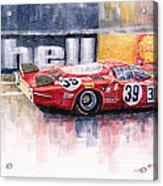 Alfa Romeo T33 B2 Le Mans 24 1968 Galli Giunti Acrylic Print