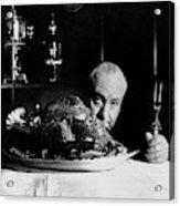 Alfred Hitchcock Looking At The Camera Acrylic Print