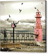 Algoma Pierhead Lighthouse Acrylic Print
