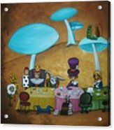 Alice In Wonderland Art - Mad Hatter's Tea Party I Acrylic Print