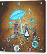 Alice In Wonderland - In Wonder Acrylic Print by Charlene Murray Zatloukal