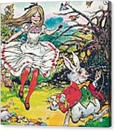 Alice In Wonderland Acrylic Print by Jesus Blasco