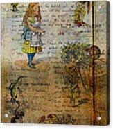Alice's Adventures Acrylic Print