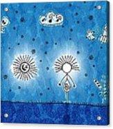 Alien Blue Acrylic Print by Gianfranco Weiss