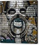 Alien Graffiti Acrylic Print