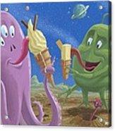 Alien Ice Cream Acrylic Print