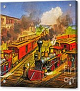 All Aboard The Lightning Express 1874 Acrylic Print