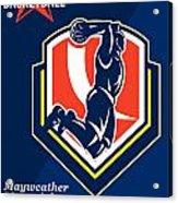 All American Basketball Retro Poster Acrylic Print