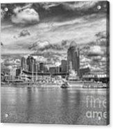 All American City 2 Bw Acrylic Print