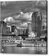 All American City Bw Acrylic Print by Mel Steinhauer