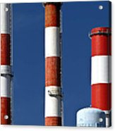 All American Industry Smokestacks Acrylic Print