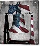 All American Liberty Bell Art_denim Acrylic Print