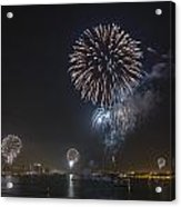 All At Once San Diego Fireworks Acrylic Print