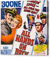 All Hands On Deck, L-r Pat Boone Acrylic Print