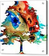 All Seasons Tree By Sharon Cummings Acrylic Print by Abstract Art