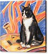 All That Jazz Cat Acrylic Print
