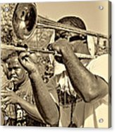 All That Jazz Sepia Acrylic Print