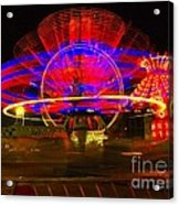 All The Rides Moving At Once Acrylic Print