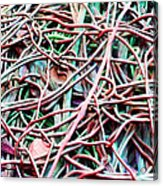 All Tied Up Abstract Art Acrylic Print