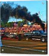 All Too Risky Pulling Truck Acrylic Print