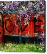 All You Need Is... Acrylic Print