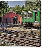 Allaire Rail Yard Acrylic Print