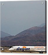 Allegiant At Palm Springs Airport Acrylic Print