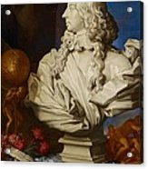 Allegorical Still Life Acrylic Print by Francesco Stringa