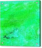 Allegory Aqua Green Acrylic Print