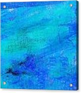 Allegory Blue Acrylic Print